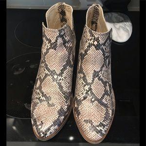 Dolce vita snakeskin booties